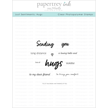 Ink to Paper JUST SENTIMENTS HUGS Mini Clear Stamps 1169
