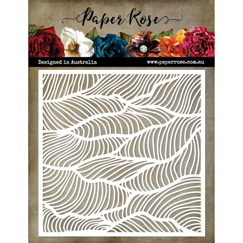 Paper Rose WONKY WAVES 6x6 Stencil 19130 Preview Image