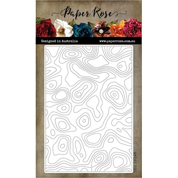 Paper Rose TOPOGRAPHIC BACKGROUND Craft Die 19148