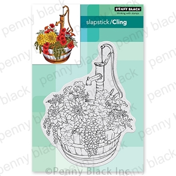 Penny Black Cling Stamps BARREL OF BLOOMS 40-724
