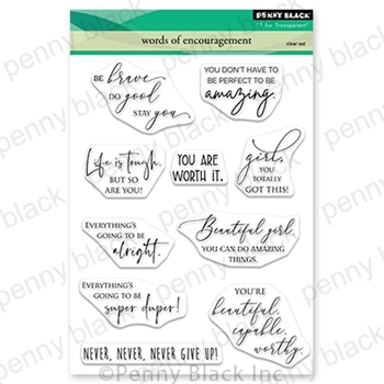 Penny Black Clear Stamps WORDS OF ENCOURAGEMENT 30 712*