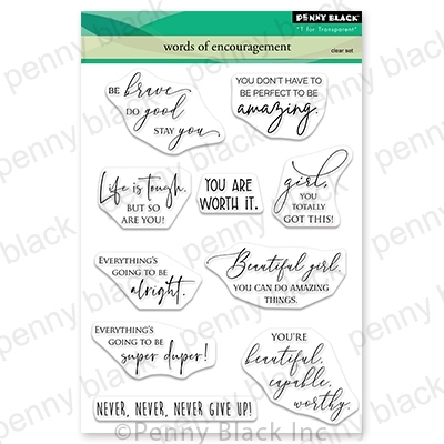 Penny Black Clear Stamps WORDS OF ENCOURAGEMENT 30-712 zoom image