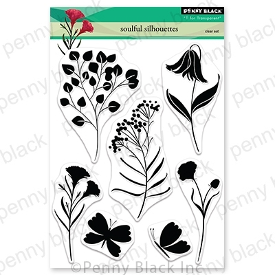 Penny Black Clear Stamps SOULFUL SILHOUETTES 30-691 Preview Image