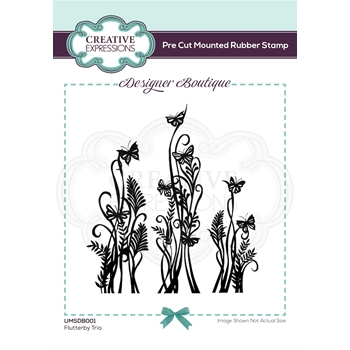 Creative Expressions FLUTTERBY TRIO Cling Stamps umsdb001