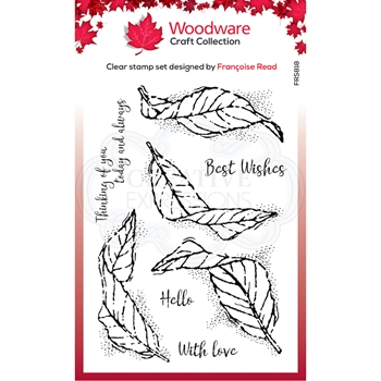Woodware Craft Collection FLUTTERING LEAVES Clear Stamps frs818