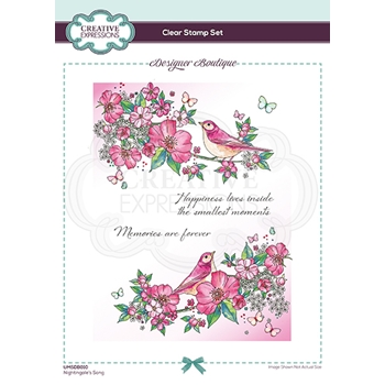 Creative Expressions NIGHTINGALE'S SONG Clear Stamps umsdb010