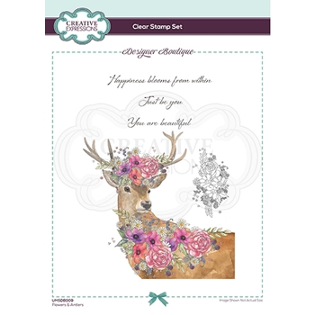 Creative Expressions FLOWERS AND ANTLERS Clear Stamps umsdb009