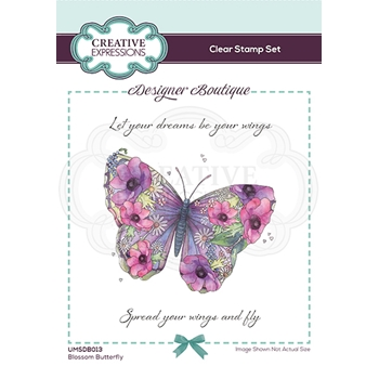 Creative Expressions BLOSSOM BUTTERFLY Clear Stamps umsdb013