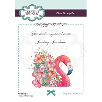 Creative Expressions TROPICAL FLAMINGO Clear Stamps umsdb014