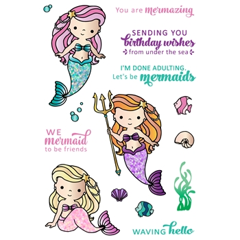LDRS Creative MERMAID TREASURES Clear Stamps 3224