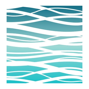 LDRS Creative OCEAN WAVES Stencil 3220
