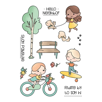 LDRS Creative A DAY IN THE PARK Clear Stamps 3215