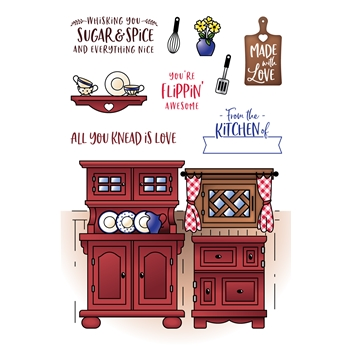 LDRS Creative COUNTRY KITCHEN POCKET PUSHER Clear Stamps 3213