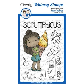 Whimsy Stamps POLKA DOT PALS KEIZA Clear Stamps BS1012