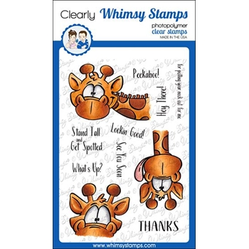 Whimsy Stamps GIRAFFES PEEKING Clear Stamps DP1045