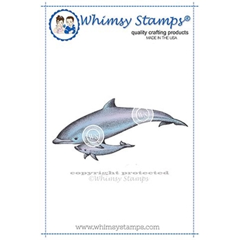 Whimsy Stamps DOLPHINS Cling Stamp DA1142