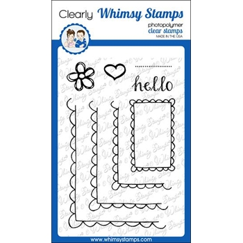Whimsy Stamps FA DOODLES FRAMES Clear Stamps CWSD319