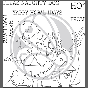 The Rabbit Hole Designs PAWLIDAYS Clear Stamps TRH-77