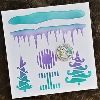 The Rabbit Hole Designs A SLICE OF CHRISTMAS Stencil TRH-018S