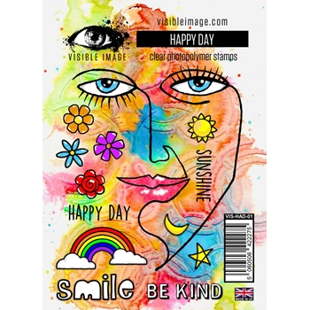 Visible Image HAPPY DAY Clear Stamps VIS-HAD-01