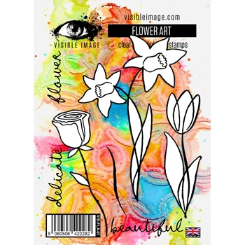 Visible Image FLOWER ART Clear Stamps VIS-FLA-01