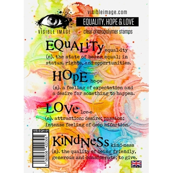 Visible Image EQUALITY HOPE AND LOVE Clear Stamps VIS-EQH-01