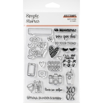 Simple Stories KATE AND ASH Clear Stamp Set 13123