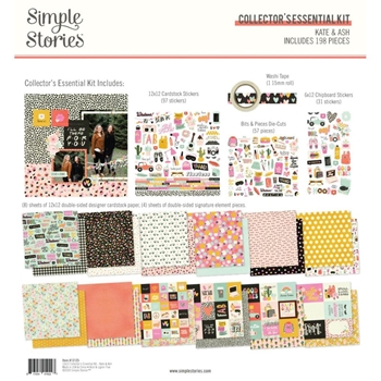 Simple Stories KATE AND ASH 12 x 12 Collector's Essential Kit 13125