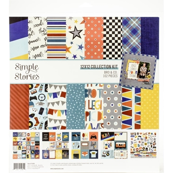 Simple Stories BRO AND CO 12 x 12 Collection Kit 13000