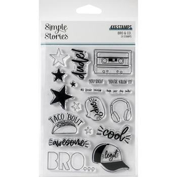 Simple Stories BRO AND CO Clear Stamp Set 13023