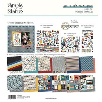 Simple Stories BRO AND CO 12 x 12 Collector's Essential Kit 13025