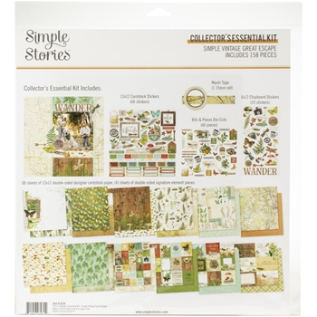 Simple Stories GREAT ESCAPE 12 x 12 Collector's Essential Kit 13224