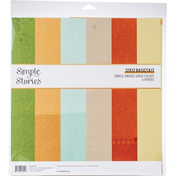Simple Stories GREAT ESCAPE 12 x 12 Basics Kit 13226