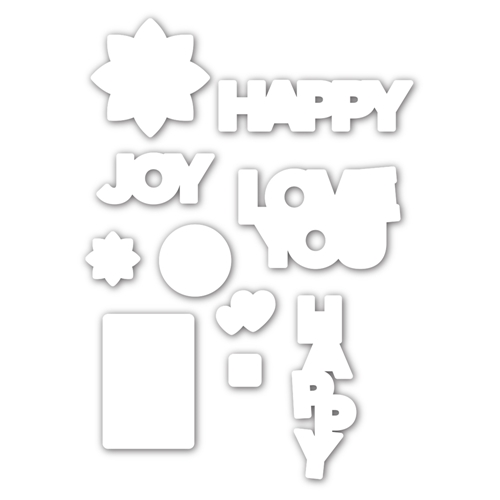 CZ Design HAPPY DAYS Wafer Dies czd95 Send Happiness Preview Image