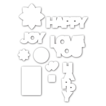 RESERVE CZ Design HAPPY DAYS Wafer Dies czd95 Send Happiness