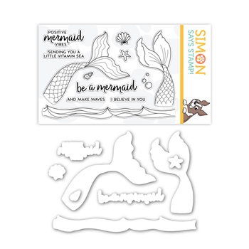 Simon Says Stamps and Dies BE A MERMAID set385bam Send Happiness