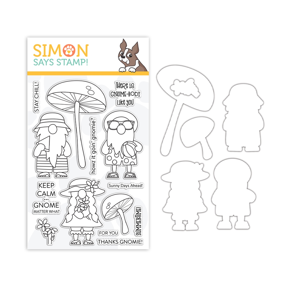 Simon Says Stamps and Dies CHILLIN GNOMES set384cg Send Happiness zoom image