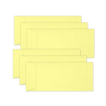 Simon Says Stamp Envelopes SLIMLINE LEMON CHIFFON Open End sss62