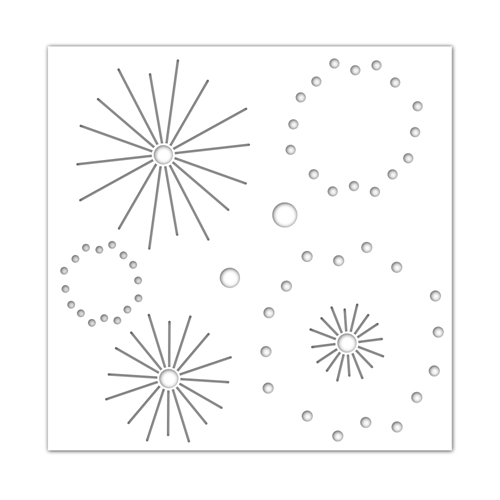 Simon Says Stamp Stencil STARBURST ssst121471 Send Happiness Preview Image