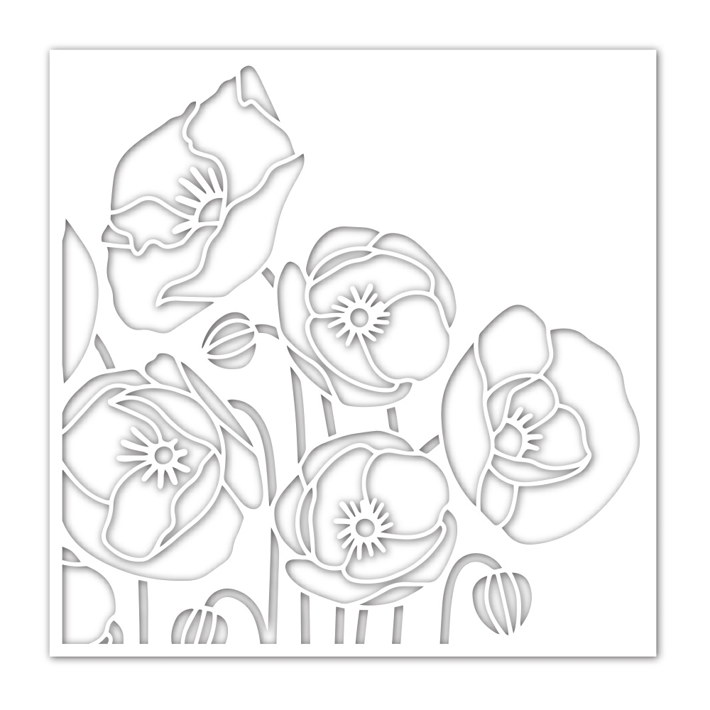 Simon's Exclusive Poppy Bouquet Stencil