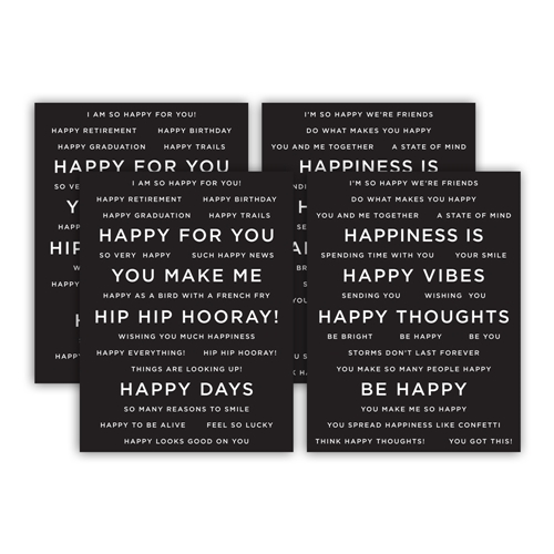 CZ Design SENTIMENT STRIPS REVERSE HAPPY czg006 Send Happiness Preview Image