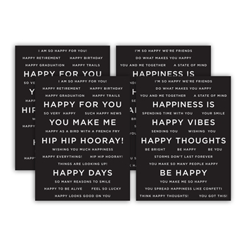 CZ Design SENTIMENT STRIPS REVERSE HAPPY czg006 Send Happiness