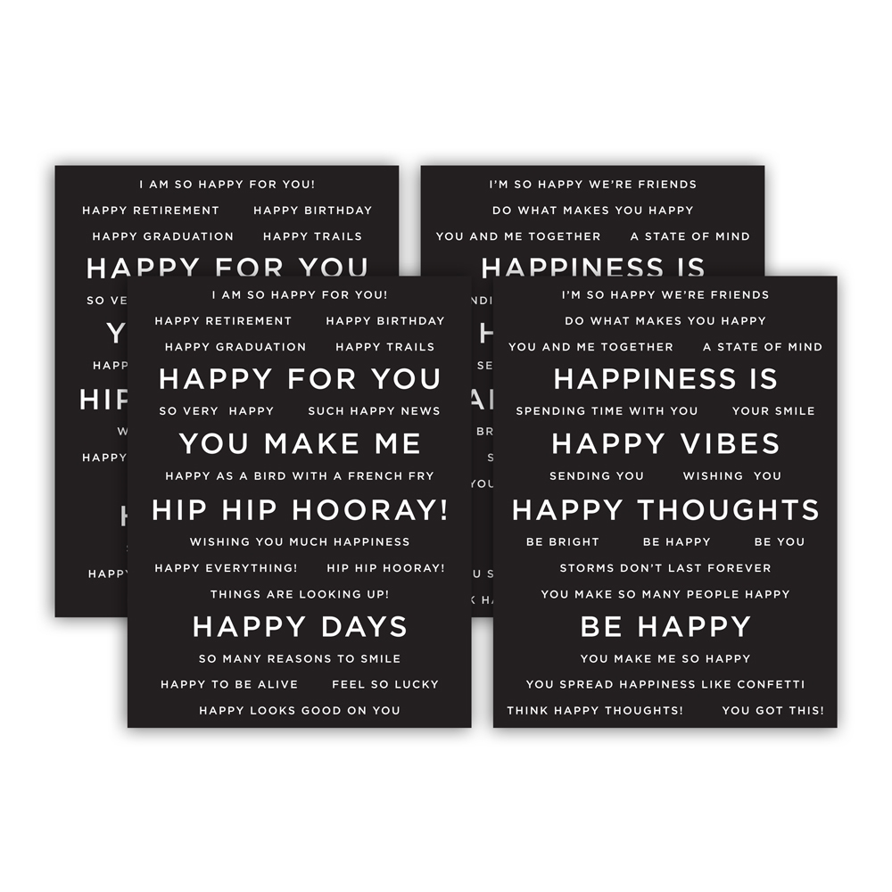 CZ Design SENTIMENT STRIPS REVERSE HAPPY czg006 Send Happiness zoom image