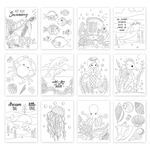 Simon Says Stamp Suzy's UNDER THE SEA Watercolor Prints szus20wc Send Happiness Preview Image