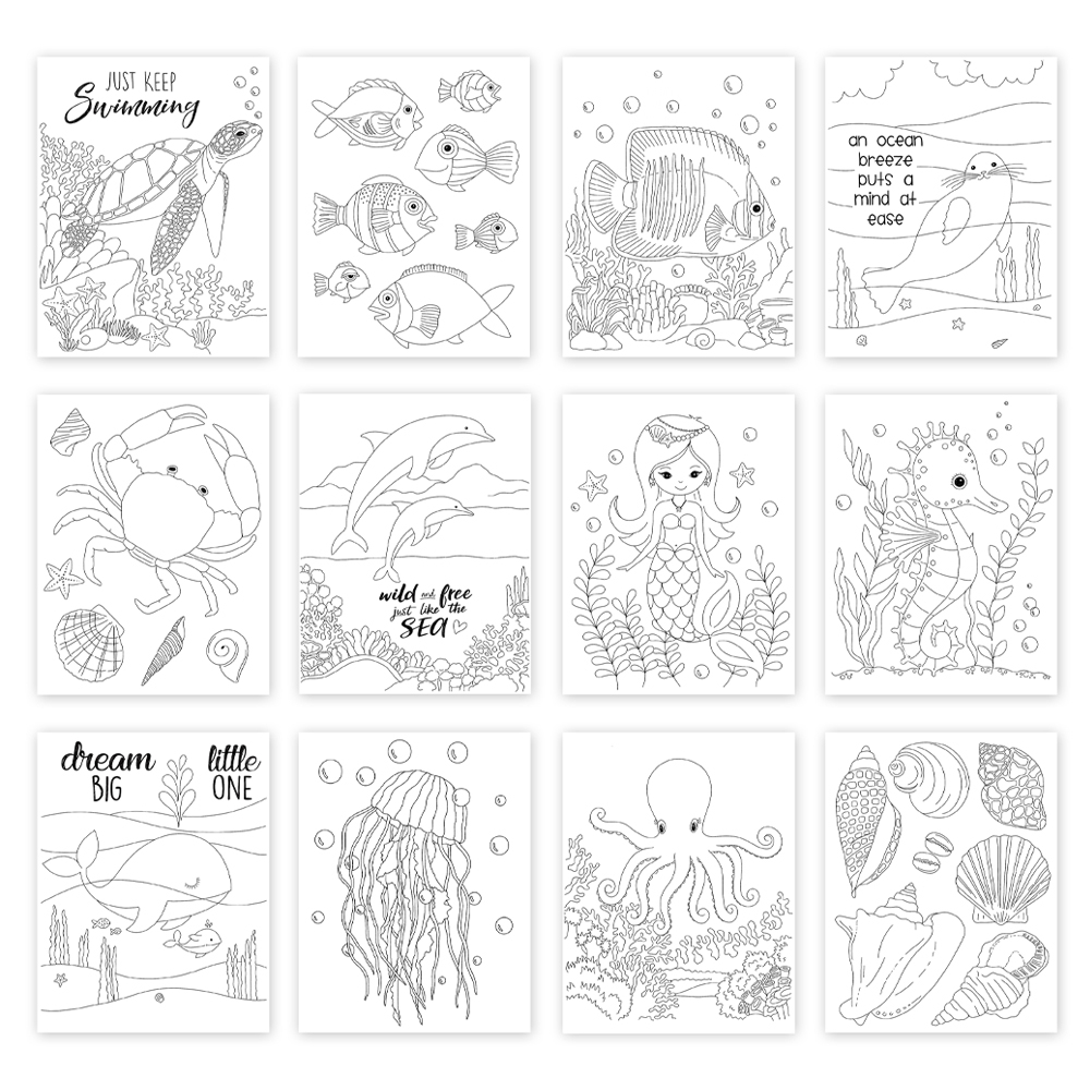 Simon Says Stamp Suzy's UNDER THE SEA Watercolor Prints szus20wc Send Happiness zoom image