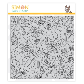 Simon Says Cling Stamp TUMBLING SHELLS sss102128 Send Happiness