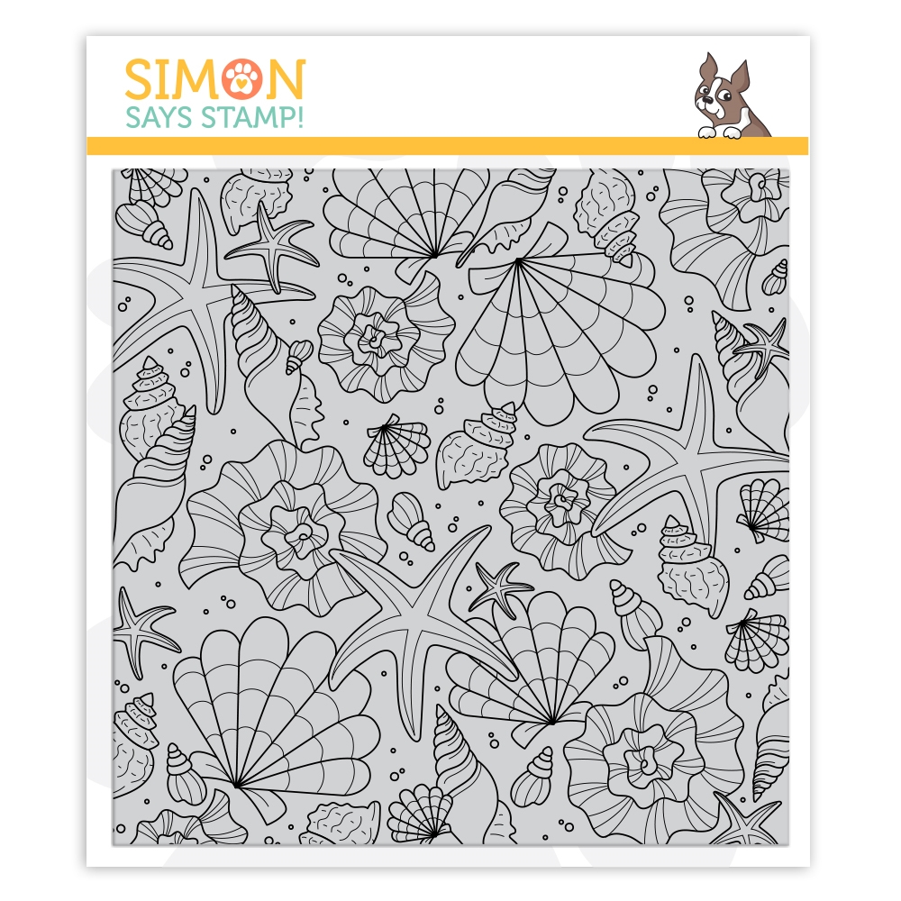Simon Says Cling Stamp TUMBLING SHELLS sss102128 Send Happiness zoom image