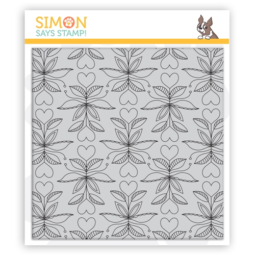 Simon Says Cling Stamp FOLK HEART BACKGROUND sss102145 Send Happiness Preview Image