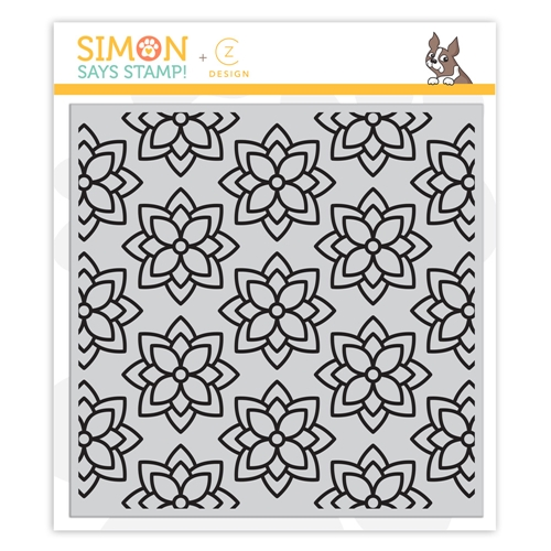 CZ Design Cling Stamps CHUNKY FLOWER cz55 Send Happiness Preview Image