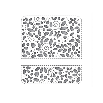 Simon Says Stamp FILIGREE MESSAGE ROUNDED RECTANGLE Wafer Die s682 Send Happiness